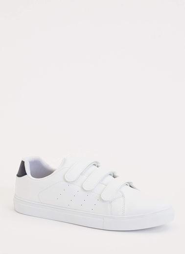 DeFacto Cırtcırtlı Spor Ayakkabı Beyaz